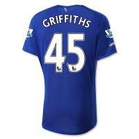 Everton 2015-16 GRIFFITHS #45 Home Soccer Jersey