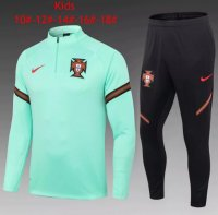 2020 Kids/Youth Portugal Tracksuit Green Training Top and Pants