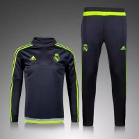 Real Madrid 2015-16 Training Suit With Pants Black