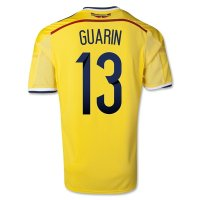 2014 Colombia #13 GUARIN Home Yellow Jersey Shirt