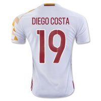 Spain 2016 DIEGO COSTA #19 Away Soccer Jersey