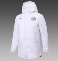 Manchester City 20/21 Winter Cotton Coat White
