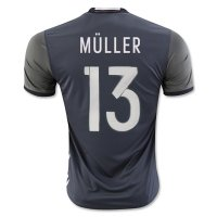 Germany 2016 MULLER #13 Away Soccer Jersey