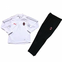 Kids AC Milan 18/19 Training Sweat Top Tracksuit White With Pants