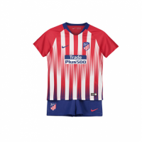 Kids Atletico Madrid 18/19 Home Soccer Kits (Shirt+Shorts)