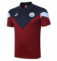Manchester City 20/21 Polo Jersey Shirt Burgundy