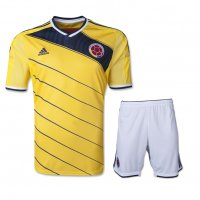 2014 Colombia Home Yellow Jersey Kit(Shirt+Shorts)