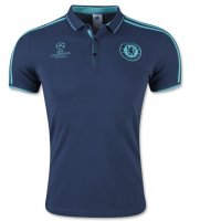 Chelsea 2015-16 UCL Navy Polo