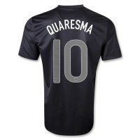 2013 Portugal #10 QUARESMA Away Black Jersey Shirt
