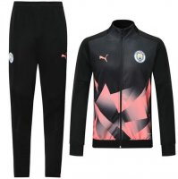 Manchester City 19/20 Tracksuits Training Jacket High Neck Black Pink With Pants