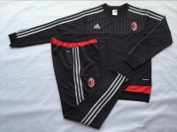 AC Milan 2015-16 Training Suit With Pants Black