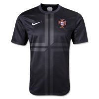 2013 Portugal Away Black Jersey Shirt