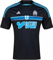Olympique Marseille 14/15 Black Away Soccer Jersey
