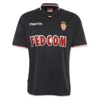 13-14 AS Monaco FC Away Black Jersey Kit(Shirt+Shorts)