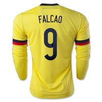 Colombia 2015 FALCAO #9 LS Home Soccer Jersey