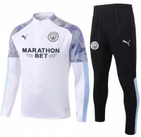 Manchester City 20/21 Tracksuit White Training Top and Pants