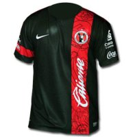 13-14 Club Tijuana Away Black Soccer Jersey Shirt