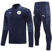 Manchester City 20/21 Tracksuit Navy Training Top and Pants