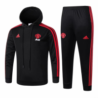 Kids Manchester United 18/19 Hoodie Tracksuit Black With Pants