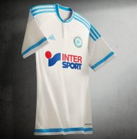 Olympique Marseille 2015-16 Home Soccer Jersey White