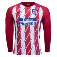Atletico Madrid 2017/18 Home LS Soccer Jersey