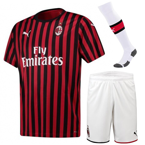 AC Milan 19/20 Home Soccer Sets (Shirt+Shorts+Socks)
