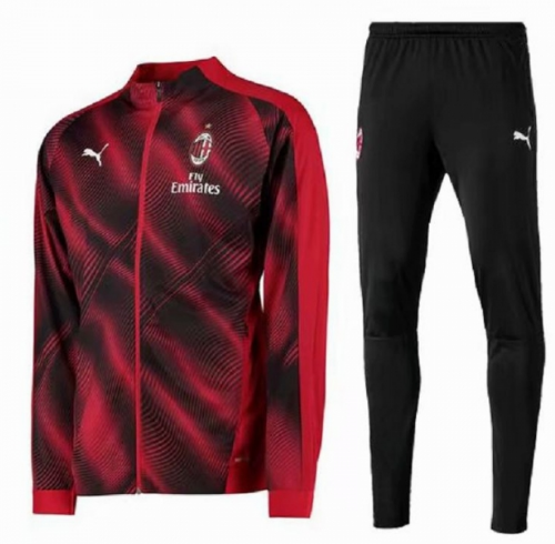 AC Milan 19/20 Tracksuit Training Jacket Red Black With Pants