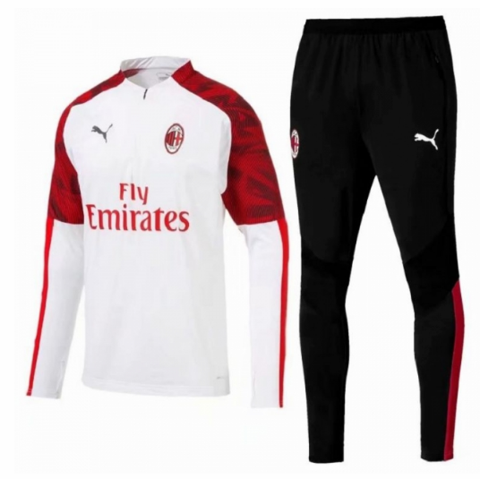 AC Milan 19/20 Tracksuit Sweatshirt White With Pants