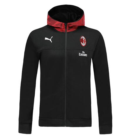 AC Milan 19/20 Hoody Jacket Black