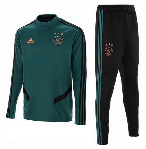Kids Ajax 19/20 Training Sweat Top Tracksuit Green and Pants