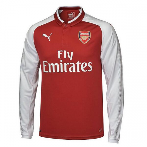 Arsenal 2017/18 Home LS Soccer Jersey