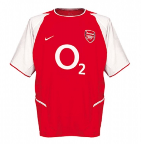 Retro Arsenal 2002/2003 Home Soccer Jersey