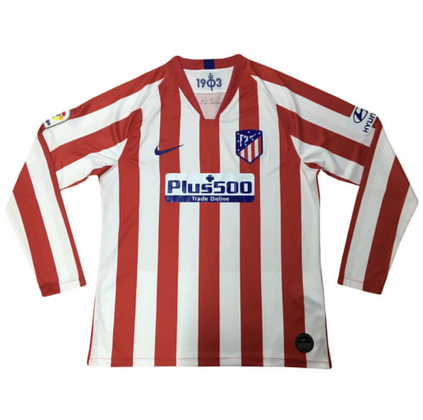 Atletico Madrid 19/20 Home Long Sleeve Soccer Jersey Shirt