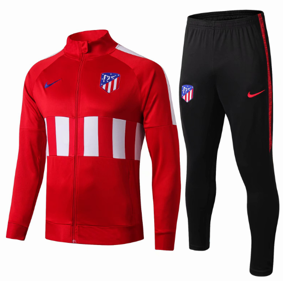 Atletico Madrid 19/20 Tracksuit Training Jacket Top Red With Pants
