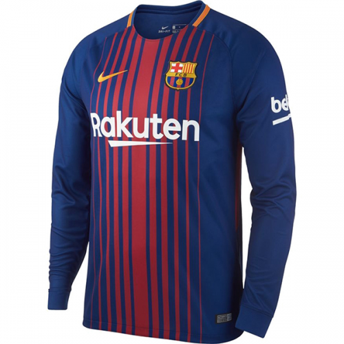 Barcelona 2017/18 LS Home Soccer Jersey
