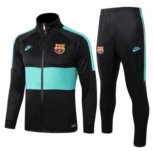 Barcelona 19/20 Tracksuit Training Jacket Black Green and Pants