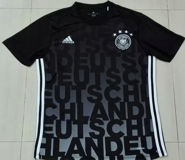 Germany 2016 Black Training Shirt Model[1603151533