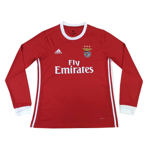 Benfica 19/20 Home Long Sleeve Soccer Jersey Shirt