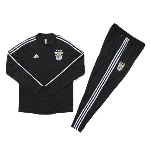 Kids Benfica 19/20 Tracksuit Training Top Black With Pants