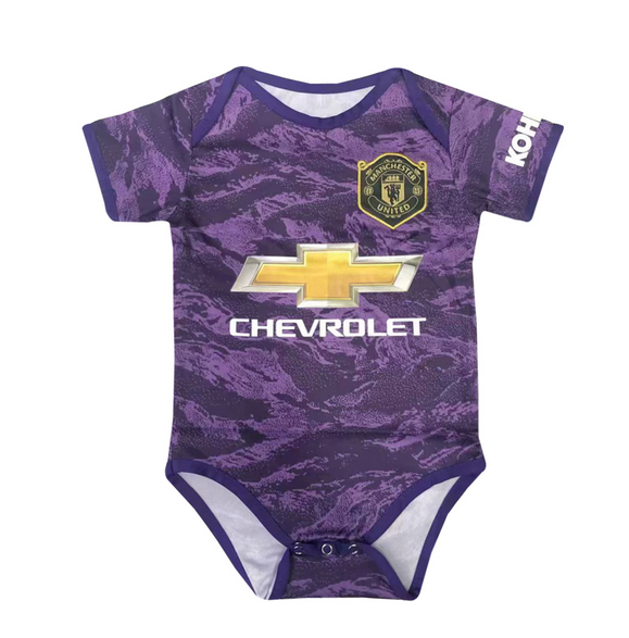 Infant Manchester United 19/20 Purple Soccer Jersey Baby Kit