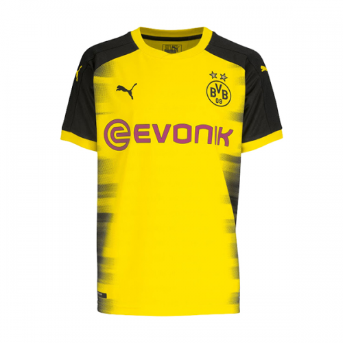 Borussia Dortmund 2017/18 Home UCL Soccer Jersey