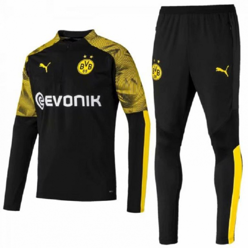 Dortmund 19/20 Tracksuits Training Sweat Top Black With Pants