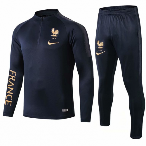 France 2019 Tracksuits Sweatshirt Borland Golden and Pants