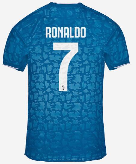 Cristiano Ronaldo 7 Juventus 19 20 3rd Away Soccer Jersey Model
