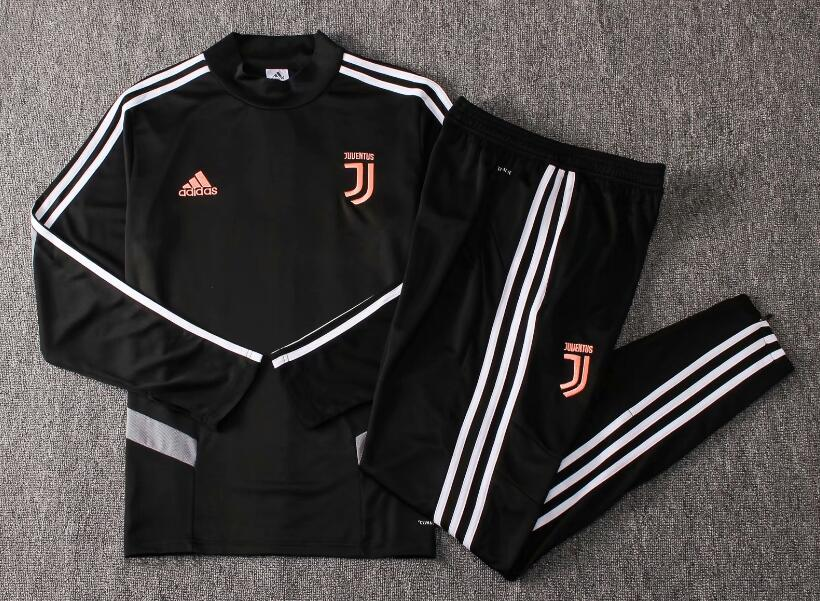 19/20 Youth Juventus Tracksuit Training Top Black and Pants