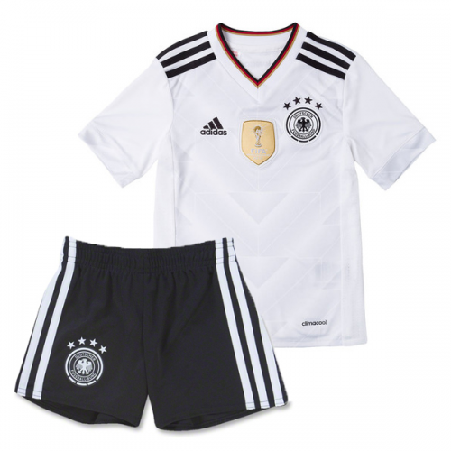 2017 Kids Germany Home Soccer Kit(Shirt+Shorts)