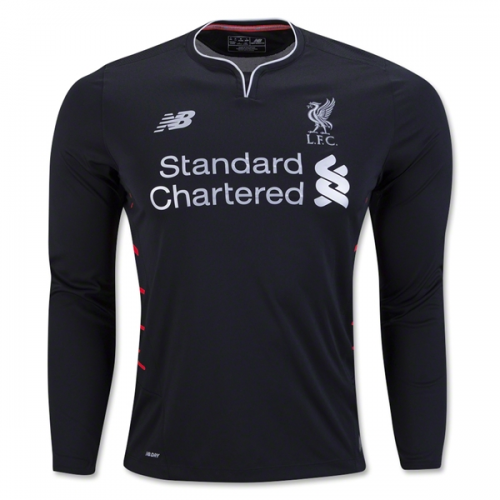 Liverpool 16/17 Long Sleeve Away Soccer Jersey