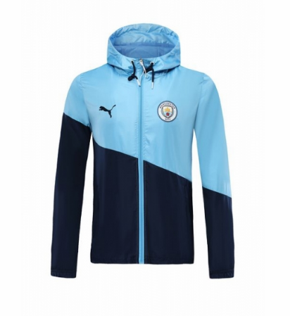 Manchester City 19/20 Wind Jacket Blue