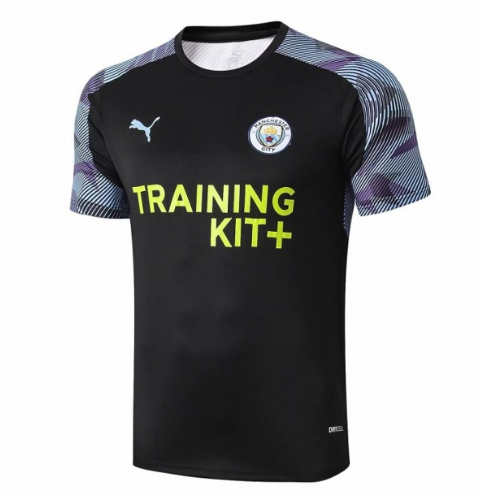 Manchester City 19/20 Training Jerseys Shirt Black