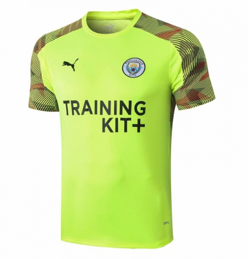 Manchester City 19/20 Training Jerseys Shirt Green